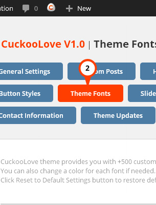 CuckooLove Theme Fonts