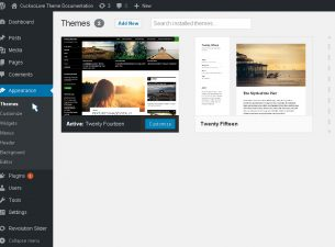 Navigate to Appearance → Themes in your WordPress dashboard panel